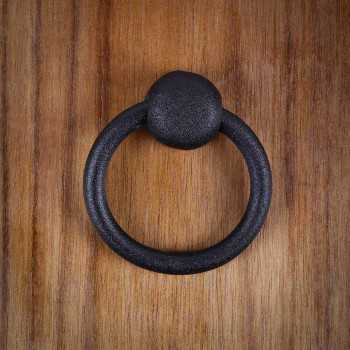 12 Cabinet Ring Pulls Mission Black Wrought Iron
