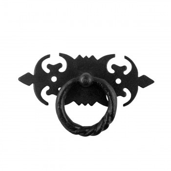 10 Ring Pull Cabinet Drawer Door Wrought Iron Black 3 12 Ring Pull Ring Pulls Iron Ring Pulls