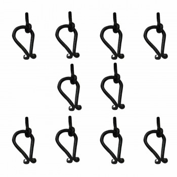 10 Ring Cabinet Drawer Door Pull Black Wrought Iron 2 12