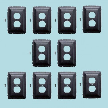 <PRE>10 Switchplate Black Steel Outlet RSF </PRE>zoom2