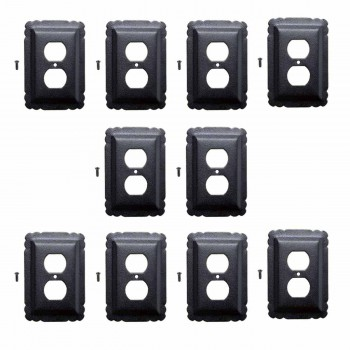 10 Switchplate Black Steel Outlet Switchplate Black RSF over Steel