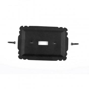10 Switchplate Black Steel Single Toggle Switchplate Covers Black Switch Plates And Outlet Covers Decorative Switchplates