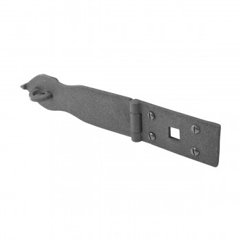 "<PRE>10 Hasp Black Wrought Iron 1 3/4inch H x 8 1/2"" W </PRE>zoom3"