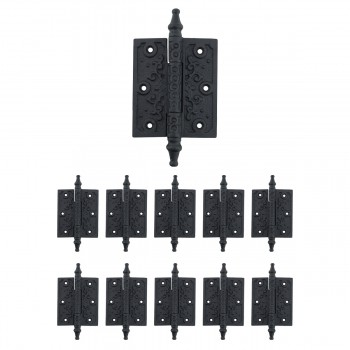 10 Hinge Black Wrought Iron Iron Hinge 5 3/4H x 3W