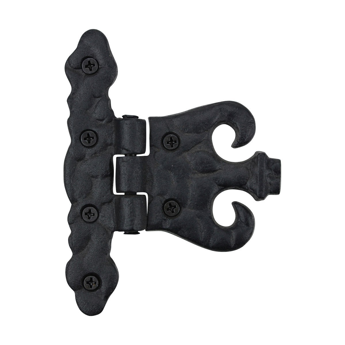 10 Wrought Iron Hinge Black Rustproof Door or Cabinet Door Hinges Cabinet Hinges Black wrought iron cabinet hinge