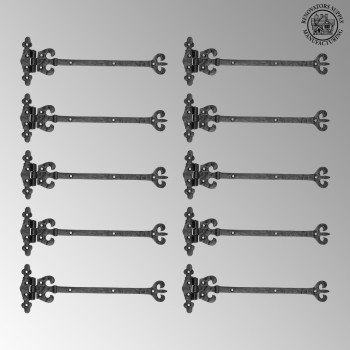 <PRE>10 Vintage Door Strap Hinge Wrought Iron 12 1/2&quot; H x 4 1/8&quot; W  </PRE>