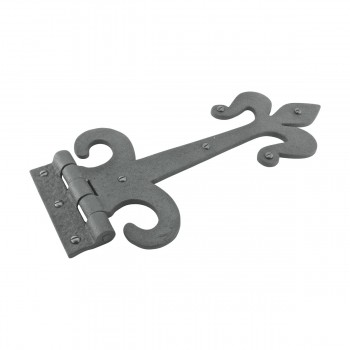 <PRE>10 Door Hinge Black Wrought Iron Strap Fleur de Lis 12inch </PRE>zoom4