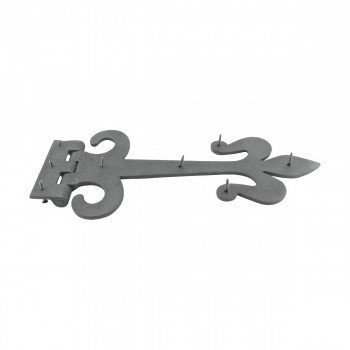 <PRE>10 Door Hinge Black Wrought Iron Strap Fleur de Lis 12inch </PRE>zoom8