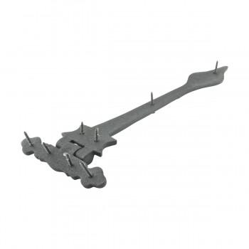 Door Strap Hinge Wrought Iron Spear Tip 11 34 in. Set of 3 Wrought Iron Door Strap Hinge Door Hinge