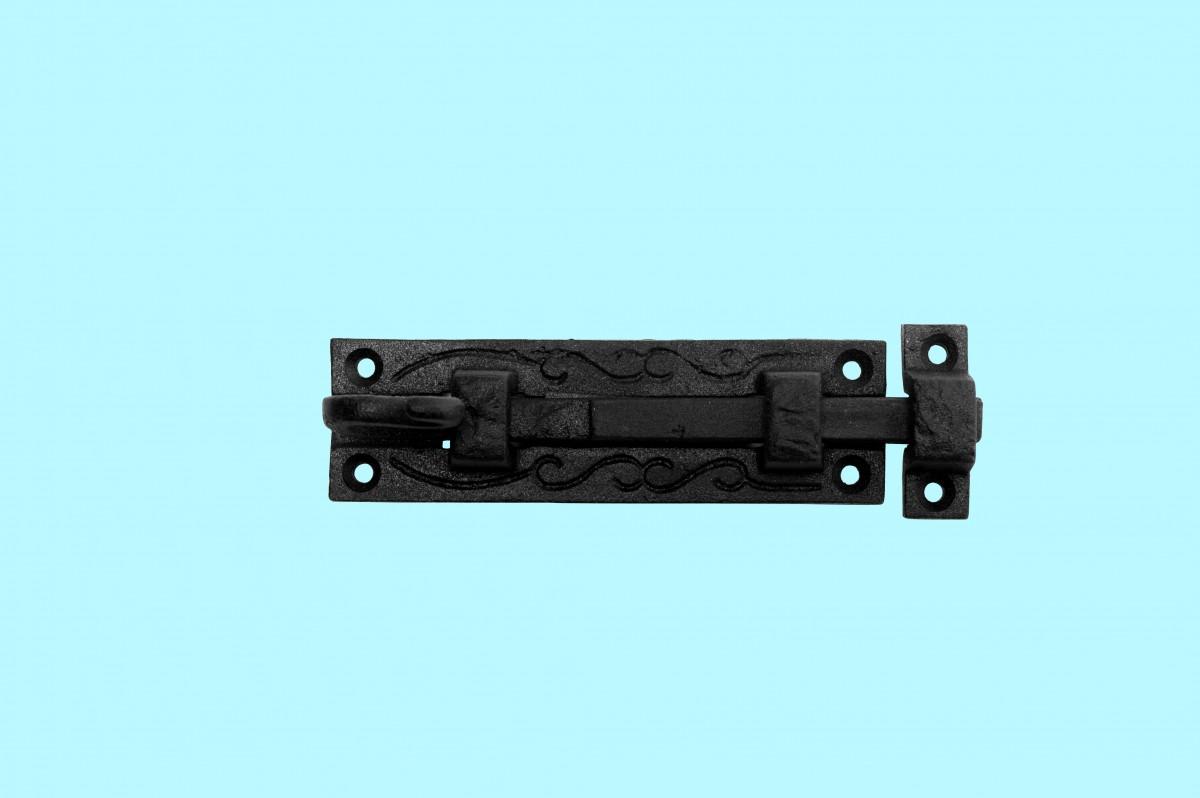 4 Black Wrought Iron Cabinet or Door Fancy Slide Bolt 4 34 Door Bolt Slide Wrought Cast Iron