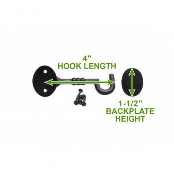 spec-<PRE>4 Cabin Hook Eye Shed Gate Door Latch Locker Holder 4&quot; Iron </PRE>