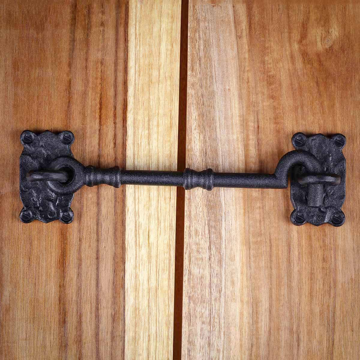 Cabin Hook Privacy Latch Black Wrought Iron 7.25 Set of 10 Cabin Hooks Privacy Hook Latch Cabin eye Hooks