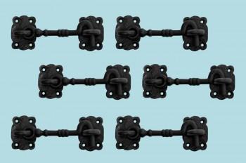 <PRE>6 Cabin Hook Eye Shed Gate Door Latch Locker Holder 5.5&quot; Iron </PRE>