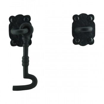 <PRE>6 Cabin Hook Eye Shed Gate Door Latch Locker Holder Iron </PRE>zoom9