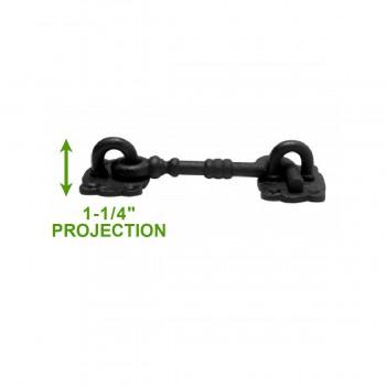 spec-<PRE>6 Cabin Hook Eye Shed Gate Door Latch Locker Holder 5.5&quot; Iron </PRE>