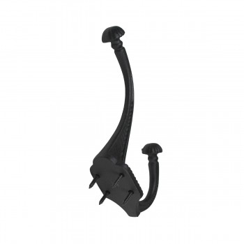 <PRE>10 Hat Coat Hook Wrought Iron Black </PRE>zoom10