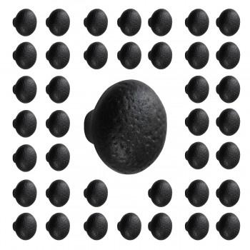 40 Cabinet Knob Black Cast Iron