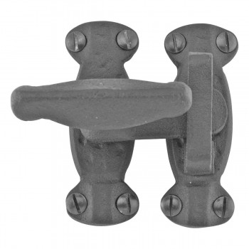 10 Cupboard Cabinet Door Latch Hand Forged Iron Cupboard Latch Cupboard Latches Wrought Iron Cupboard latch