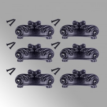 Cabinet or Drawer Bin Pull Black Iron Cup 4 W x 1 12 H Pack of 6 Cabinet Pull Cabinet Hardware Cabinet Pulls