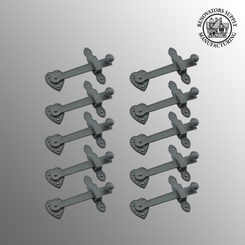 "<PRE>10 Gate Latch Heavy Black Wrought Iron Set 4inch X 6-3/8"" </PRE>zoom2"