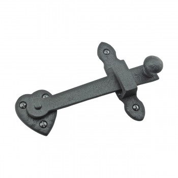 "<PRE>10 Gate Latch Heavy Black Wrought Iron Set 4inch X 6-3/8"" </PRE>zoom5"