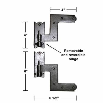 "spec-<PRE>4 Pairs Shutter Hinge Wrought Iron 6"" H x 6 1/2"" W </PRE>"