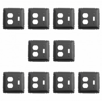 10 Switchplate Black Wrought Iron ToggleDuplex Switch Plate Wall Plates Switch Plates