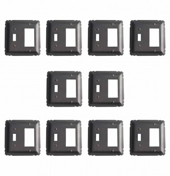 10 Switchplate Black Wrought Iron GFIToggle 5 14 Switch Plate Wall Plates Switch Plates