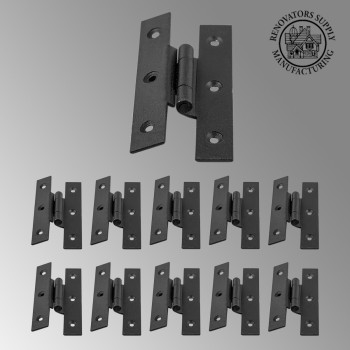 spec-<PRE>Cast Iron Cabinet H Hinge Style  3 1/2&quot; H 3/8&quot; Offset Set of 10 Hinges</PRE>
