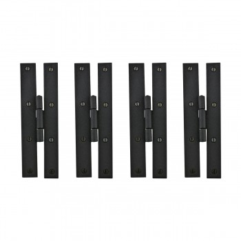 4 Forged Iron Door Flush Hinges H Style 7 H Door Gate Pantry Cabinet Wrought Iron H Hinge Flush Mount Flat Wrought Iron H Door Hinge Wrought Cast Forged Stamped Black Iron Door Hinge