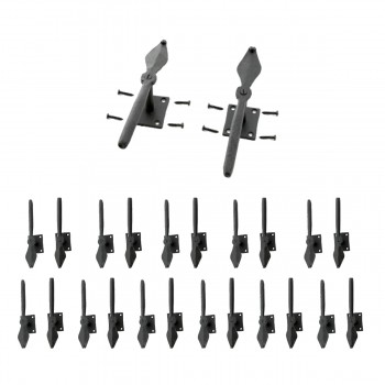 Shutter Dogs Black Iron Pair Spoon Shaped Wood Mount Pack of 12