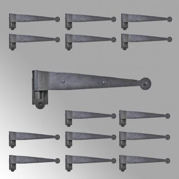 Iron Hinges Black Pintle Hinge Strap Shutter Hinge Offset 1.875 Inch
