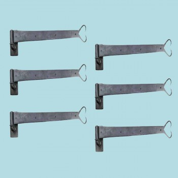 <PRE>6 Pintle Strap Door Hinge Heart Tip Black Wrought Iron 34inch </PRE>zoom2