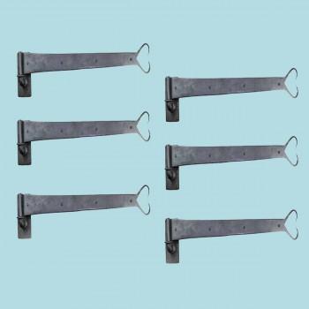 <PRE>6 Pintle Strap Door Hinge Heart Tip Black Wrought Iron 34&quot; </PRE>