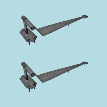 <PRE>2 Black Iron Offset Shutter Strap Pintle Hinge 11 3/4inch </PRE>zoom2