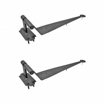 <PRE>2 Black Iron Offset Shutter Strap Pintle Hinge 11 3/4inch </PRE>zoom1