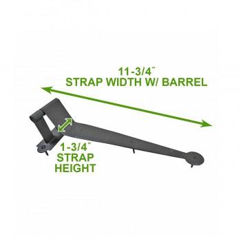 "spec-<PRE>2 Black Iron Offset Shutter Strap Pintle Hinge 11 3/4"" </PRE>"