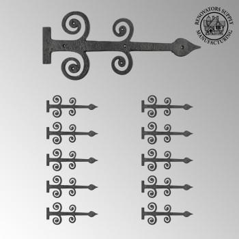 <PRE>10 Decorative Heavy Iron Door Strap Hinge Spade 16&quot; Long </PRE>