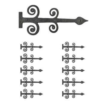 10 Decorative Heavy Iron Door Strap Hinge Spade 16