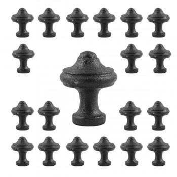 Cabinet Knob Black Wrought Iron 1