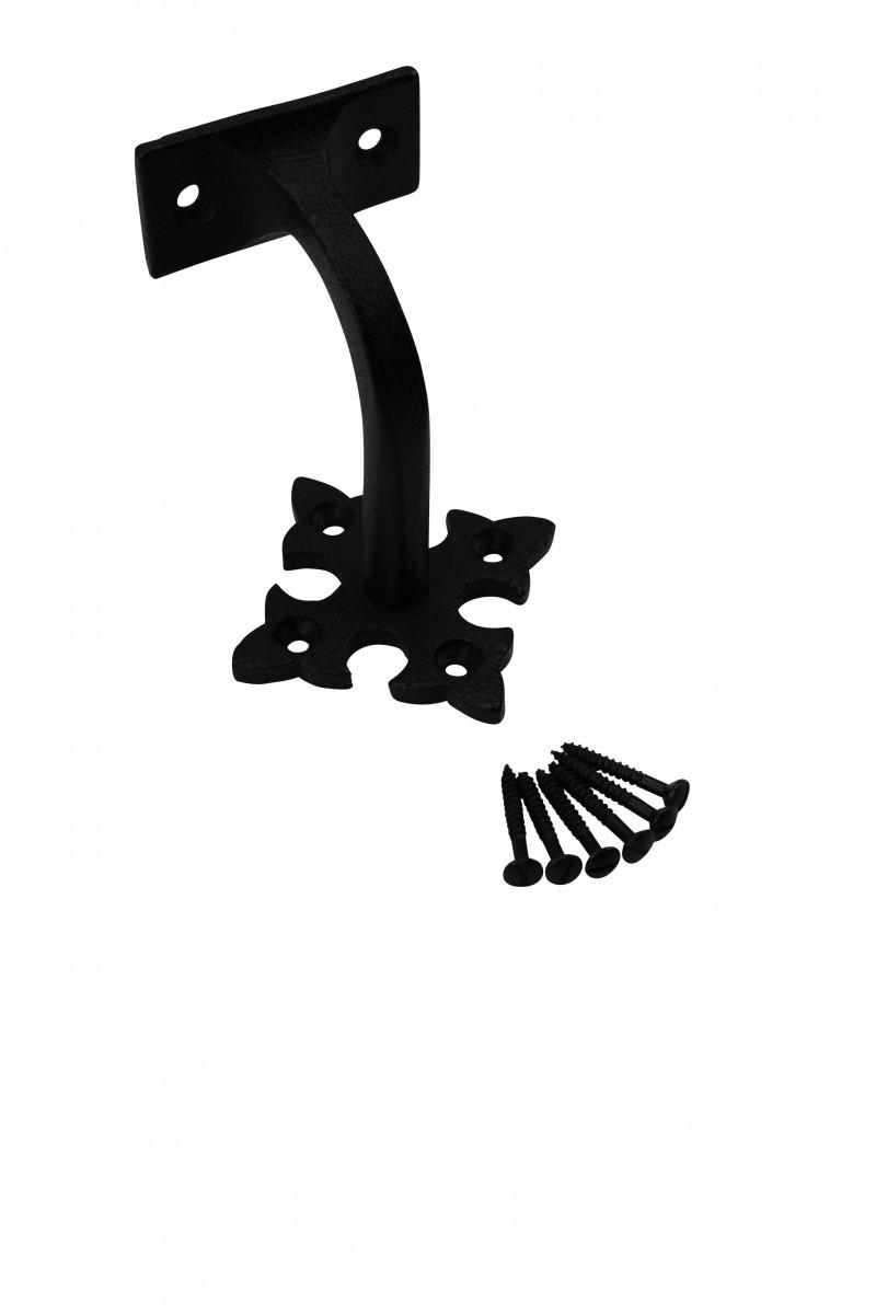 4 Pcs Stair Hand Rail Brackets Black Wrought Iron Hand Rail Brackets Stair Hand Brackets Hand Rail Bracket