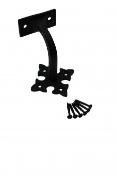 <PRE>4 Pcs Stair Hand Rail Brackets Black Wrought Iron </PRE>zoom4