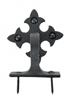 <PRE>4 Pcs Stair Hand Rail Brackets Black Wrought Iron </PRE>zoom7