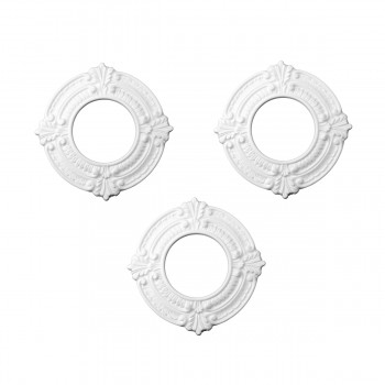 3 White Spotlight Ring 4 ID x 8 OD Lightweight 3 Pack