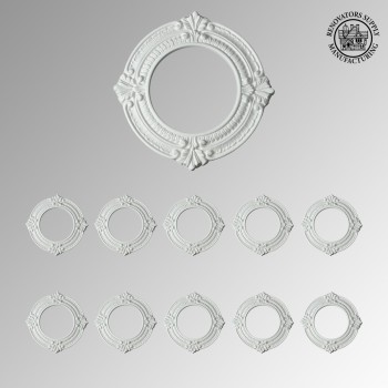 Spot Light Trim Medallions 6 Inch ID Urethane White Set of 10 Ceiling Fixtures Ceiling light fixtures Lighting Medallion
