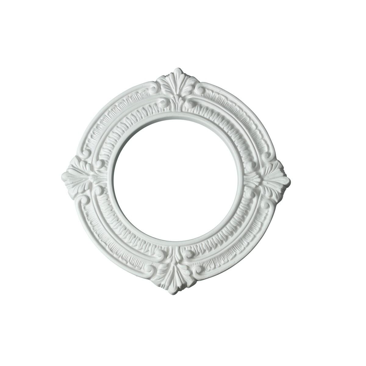 Spot Light Trim Medallions 6 Inch ID Urethane White Set of 10 Ceiling Fixtures Ceiling light fixtures Lighting Medallion