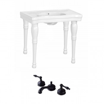 Renovator's Supply White Bathroom Console Sink Belle Combo Set with Faucet46831grid