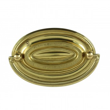 <PRE>Hepplewhite Drawer Pull Polished Solid Brass 3 1/2&quot; W </PRE>