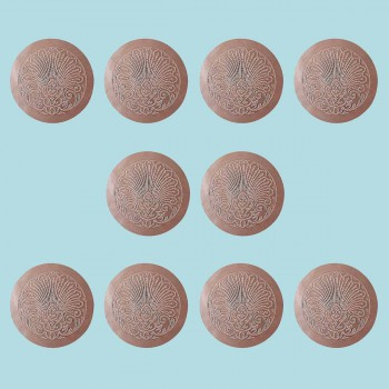<PRE>10 Chair Seats Tan Leather Round 12&quot; Dia Embossed Set of 10 </PRE>