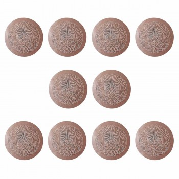 10 Chair Seats Tan Leather Round 12